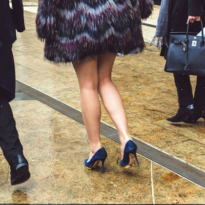 High heels at Linconln Center during 2015 NYFW Streetphotography Fashion NYC