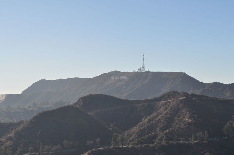 Hollywood hills with their famous sign Mountain Sky Beauty In Nature Scenics - Nature Mountain Range Copy Space Nature Clear Sky Day Tranquil Scene No People Environment Tranquility Non-urban Scene Landscape Tower Land Outdoors Architecture Travel Mountain Peak Spire  Hollywood Hollywood Sign Hollywood Hills
