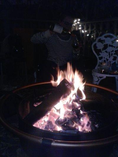 Wine Bonfire Ladies Night