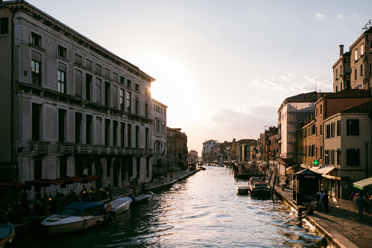 Venice Architecture Building Exterior Built Structure City Sky Building Transportation Water Canal Nature Nautical Vessel Mode Of Transportation Waterfront Residential District Incidental People Outdoors Sunlight Sunset Day