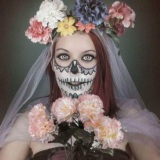 Sugarskull Whpfilltheframe Flowers Makeup eyes bride modellife picoftheday photooftheday