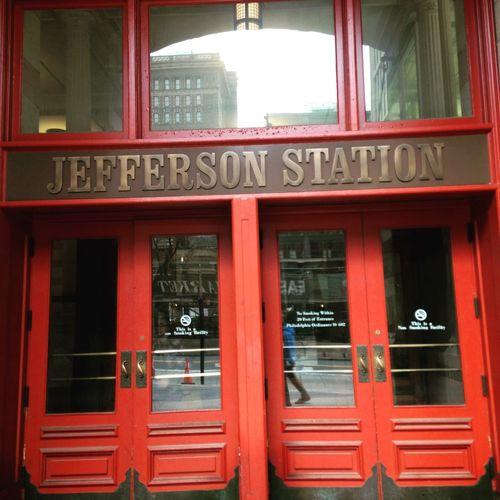 Architecture Building Exterior Jefferson Station No People Philadelphia Red USA