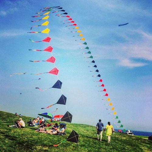 The Great Outdoors - 2016 EyeEm Awards The Essence Of Summer Kites Lovelycouple Kitefestival Brenton Point Newport Rhode Island Original Experiences Colour Of Life TakeoverContrast Long Goodbye Long Goodbye