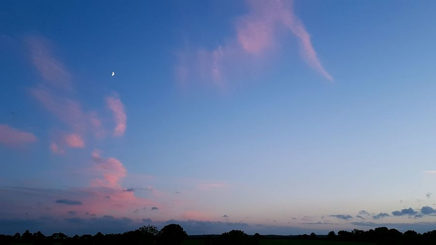 Moon With Pink Clouds Pink Clouds