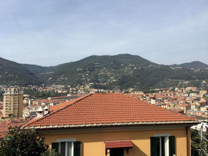 Berge Gebäude Architektur Hafen Italien La Spezia Italy Landschaft Meer Panorama Schiffe Häuser Meerblick