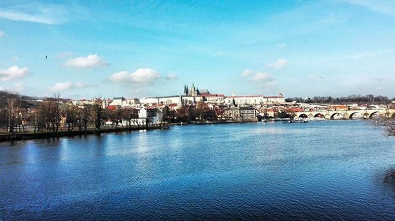 On the trip with @petraduongova :D Travel Travelling Travellover Prague Praha River City Panorama Friends Relax Shopping Sunnyday Bridge Instadaily Instapic Huawei FriendTime Friendtrip Bigcity OurCity Enjoyed Sky Clouds