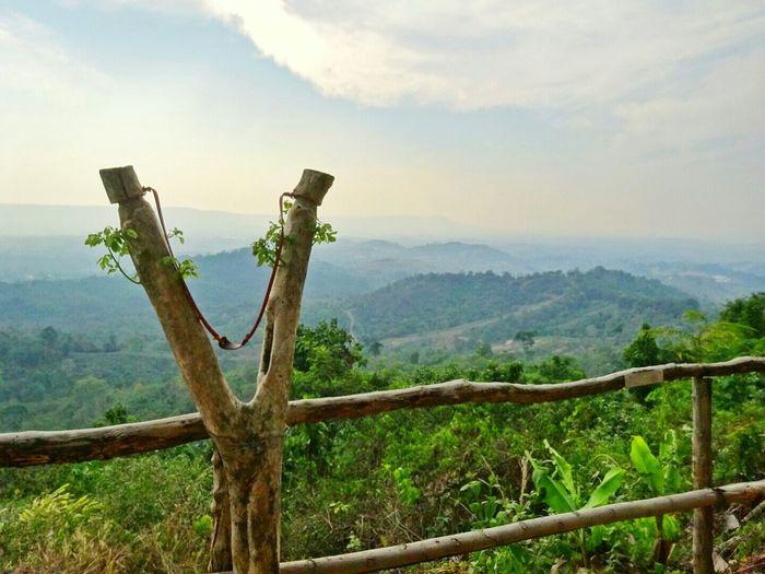 Thailand Mountains Forest Trees Slingshot Angry Birds Enjoying Life Nature Holiday