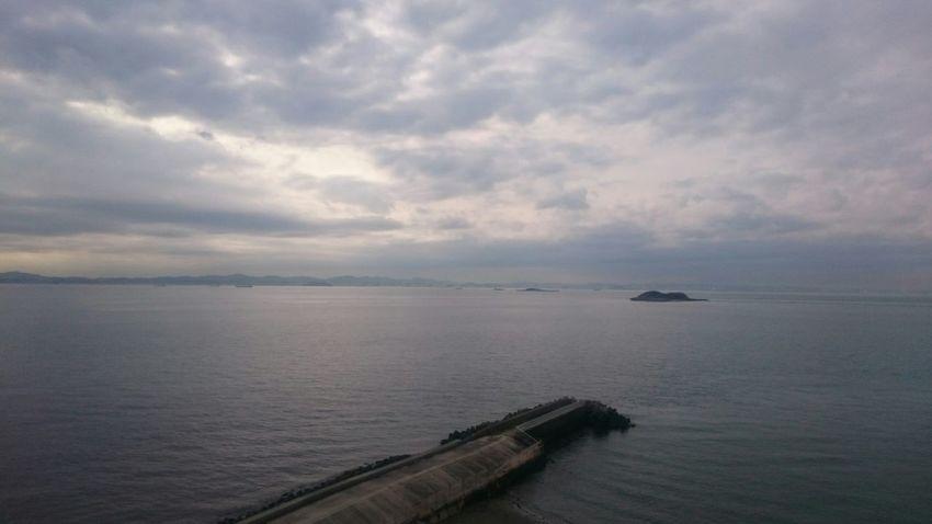 天気が悪いけど富津岬