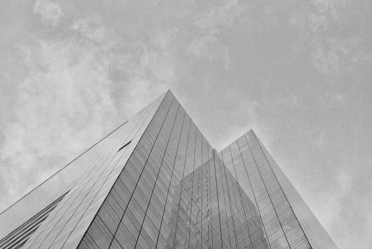 Facade City Pyramid Triangle Shape Sky Architecture Built Structure Close-up Triangle Architectural Detail Architectural Feature