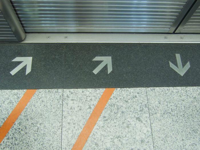 Day Direction No People Outdoors Subway Subway Advisement Subway Sign