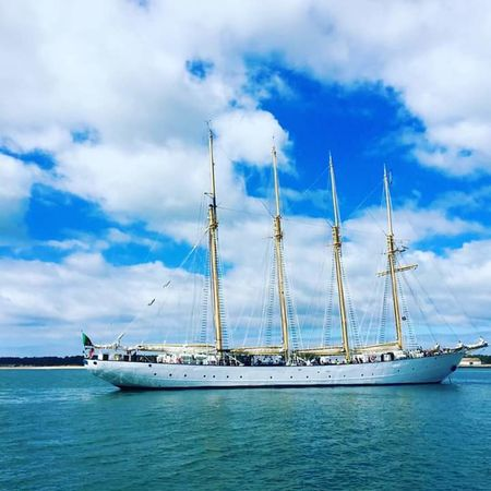 Cloud - Sky Nautical Vessel Blue Sky Outdoors Transportation Sailing Ship Sailboat Sea No People Beauty In Nature Day Travel Destinations Mast Nature Horizon Over Water Sailing Water