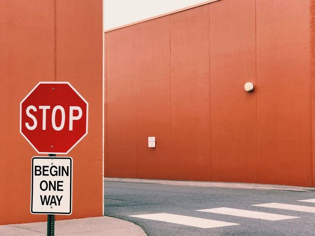 The Architect - 2018 EyeEm Awards The Street Photographer - 2018 EyeEm Awards Communication No People Guidance Road Sign Close-up Building Exterior Wall Minimalism Minimal Built Structure Architecture Road Crosswalk Walkway Sign Western Script Warning Sign Stop Sign Safety Capital Letter Information Sign Wall - Building Feature Stop - Single Word Red Road
