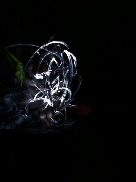 Having fun in a power cut Light Painting Kids Play Night Dark Torch Torchlight Scribble Entertainment Enjoying Life