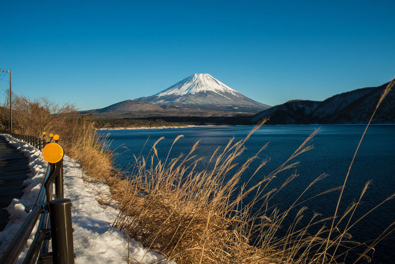 Beauty In Nature Blue Clear Sky Fuji Landscape Motosulake Mountain Mountain Range Mt Fuji Nature Tranquil Scene Tranquility Feel The Journey Ultimate Japan
