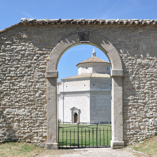 Macereto, Italy - hidden treasure Baptistery Arch Architecture Building Exterior Built Structure Church City Clear Sky Day History Italy Macereto, Italy Marche No People Outdoors Place Of Worship Sky Travel Destinations
