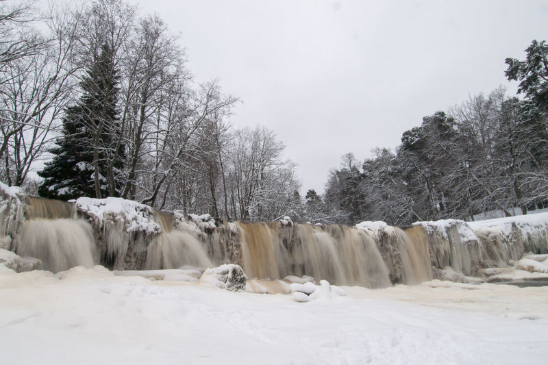 Keila-Joa waterfall in winter Frozen Beauty In Nature Cold Temperature Day Environment Flowing Water Frozen River Frozen Waterfall Landscape Nature No People Non-urban Scene Outdoors Plant Scenics - Nature Sky Snow Tranquility Tree Waterfall White Color Winter