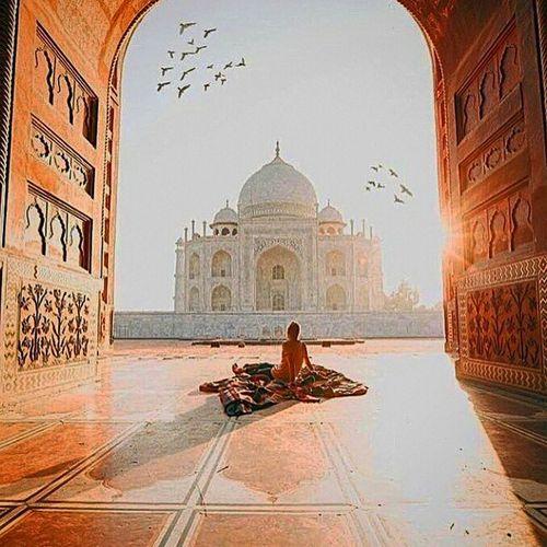 Architecture Travel Destinations Building Exterior Outdoors Taj Mahal Beauty India Indian Culture  Indian Architecture Love Love Without Boundaries Shahjahan Mumtajmahal Agra Indiaclicks Men Text Adult People