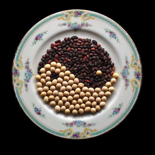 Harmonious Beans Beans Studio Yin & Yang Black And White Black Background Bowl Close-up Conceptual Day Food Food And Drink Freshness Healthy Eating Indoors  Large Group Of Objects Multi Colored No People Plate Studio Shot Yingyang