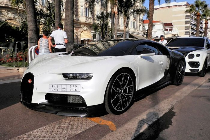 Bugatti Chiron Car Transportation Architecture Built Structure Building Exterior Day Mode Of Transport Land Vehicle Men Real People Outdoors Group Of People Tree City Only Men Adult Adults Only People Bugatti Chiron Cannes Bugatti
