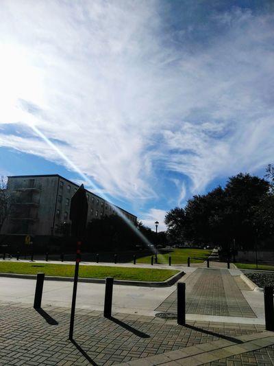 Swirls Building Light Clouds Sky Cloud - Sky Sky No People Outdoors Day