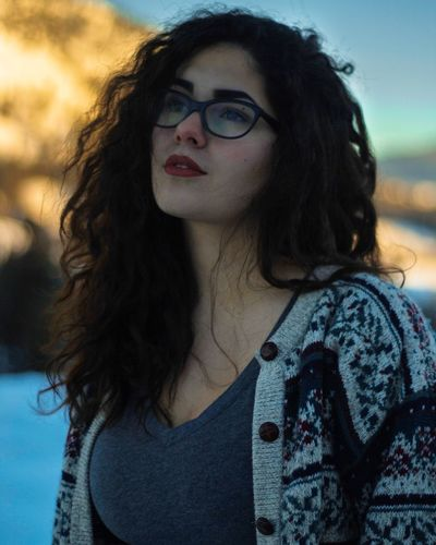 loved this shoot with Dana Marie Portrait Beautiful Woman Young Women Curly Hair Winter Beautiful Cool Tones Canada First Eyeem Photo