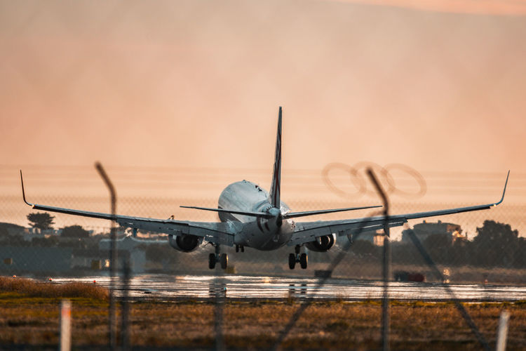 Sunrise Plane Aviation Aviationphotography Aviationlovers Sky Reflection Mirage Barbed Wire Touchdown Take Off Airport Runway Airport Photography EyeEm Ready   Sunset Planes Flying Travel Airport Flight Adelaide Aeroplane Adventures In The City Adventures In The City Autumn Mood My Best Photo