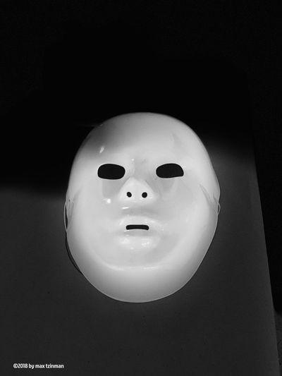 Blank Mask Representation Art And Craft Close-up Indoors  Still Life No People Anthropomorphic Black Background EyeEmNewHere