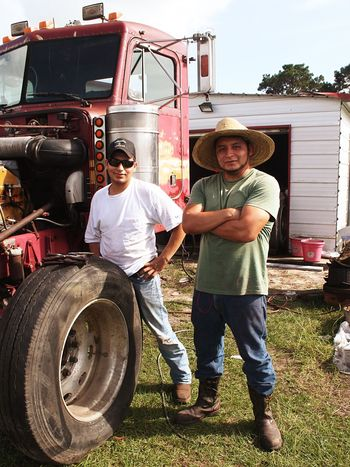 Truckers Portrait Looking At Camera 18wheeler Teamwork Transportation Two People Agriculture Men Smiling Day Outdoors Farmer Working Cheerful People Standing Occupation Adults Only Life EyeEmNewHere The Week On EyeEm