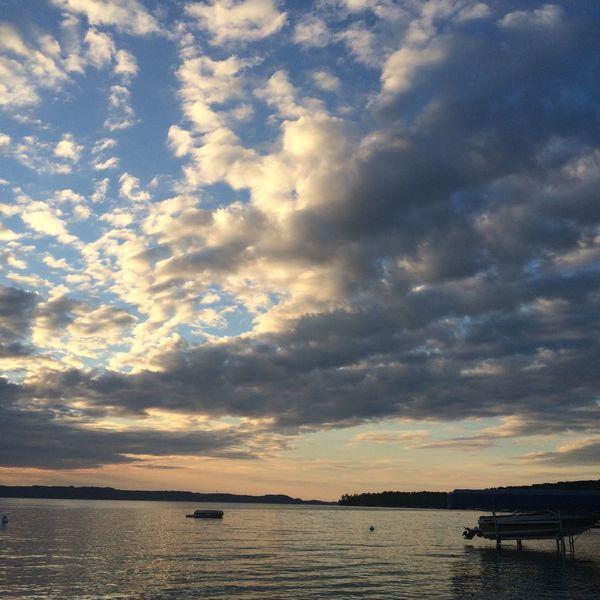Water Sky Scenics Waterfront Sea Sunset Lake