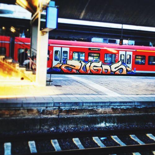 Zugos Heidelber HBF Streetphotography Trainbombing Art Graffiti Bahn Zug Trainspotting Train Architecture Built Structure Public Transportation Transportation Building Exterior No People Rail Transportation