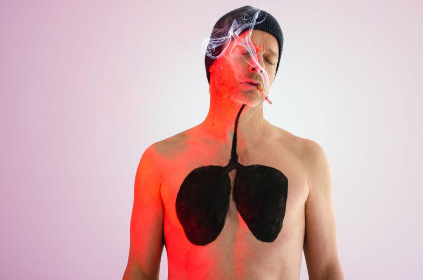 Bodypainting Cancer Gefahr Gesundheitsrisiko Lunge Zigarette Cancerawareness Gesundheit Krebs Rauchen Risiko Sucht