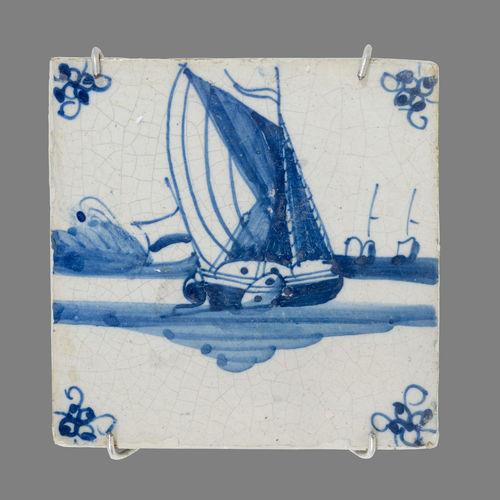 16th Century 17th Century 18th Century Boat Ceramics Netherlands Ship Tile Vessel