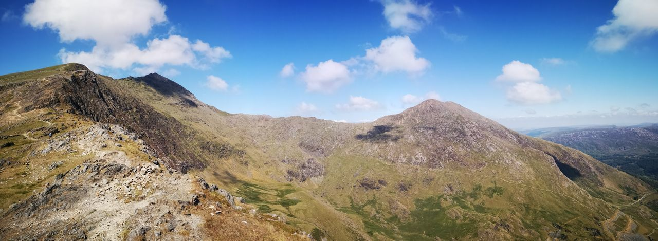 view from Snowdon Huaweiphotography Huawei P20 Panoramic Photography Visitwales Wales Snowdonia EyeEm Selects Mountain Sky Landscape Mountain Range Cloud - Sky Geology Hiker Rock Formation Natural Landmark
