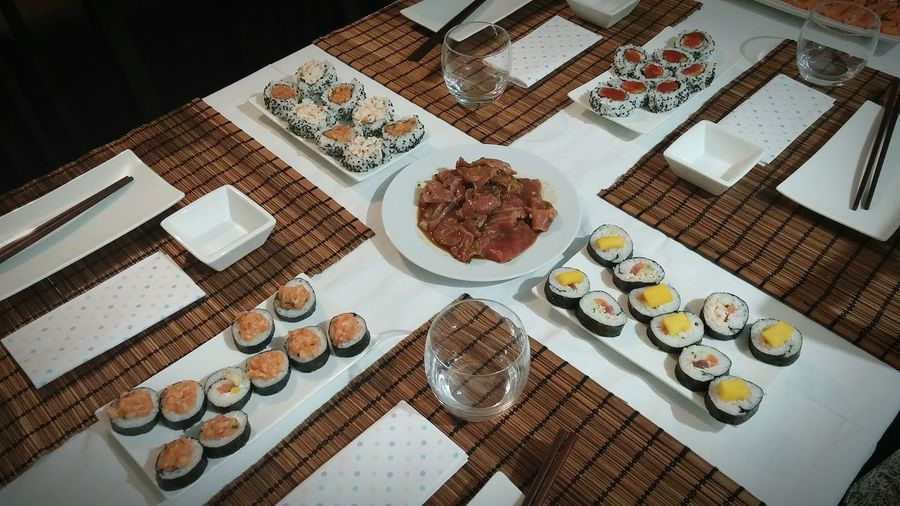 Sushi for four No People High Angle View First Eyeem Photo