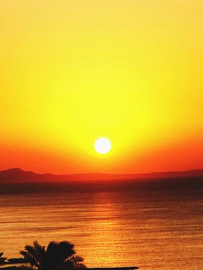Sky Sunset Beauty In Nature Scenics - Nature Tranquil Scene Water Tranquility Orange Color Romantic Sky