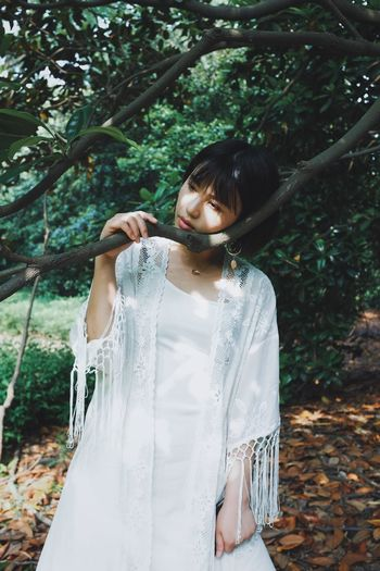 This Is My Skin One Person Tree Young Adult Leisure Activity Women Real People Standing Hair Young Women Plant Lifestyles Front View Day Three Quarter Length Adult Hairstyle Beautiful Woman Dress Land Girl Light And Shadow Pretty Girl Pretty Girly