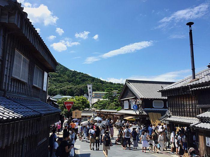 Sky 赤福 伊勢 Ise Street Summer ☀ Summer2016 Summer Sky And Clouds Blue Sky