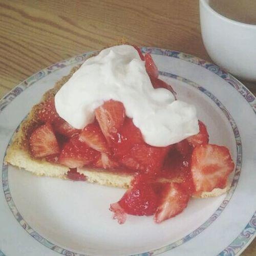 Yummy Cake Strawberry Food Porn