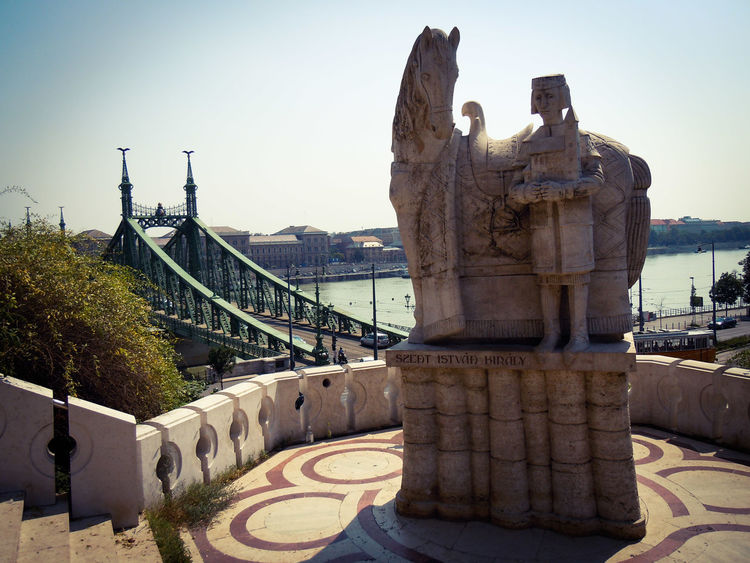 Budapest Budapest, Hungary Hungary Budapest Love Budapest View Budapest - Hungary Monument Bridge Over Water Bridge View Sculpture Taking Photos Photography Lovely Place Sunny Day Hot Weather Enjoying The View Picture Walking Around See The World