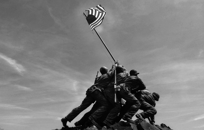 Statues And Monuments Statues Military Washington, D.C. Cloud - Sky Sky National Monument WWII Ww2 America American Flag Iwo Jima Memorial american life