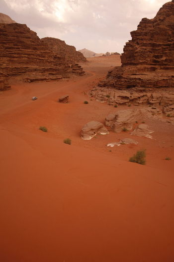 Off-Road Vehicle In Desert