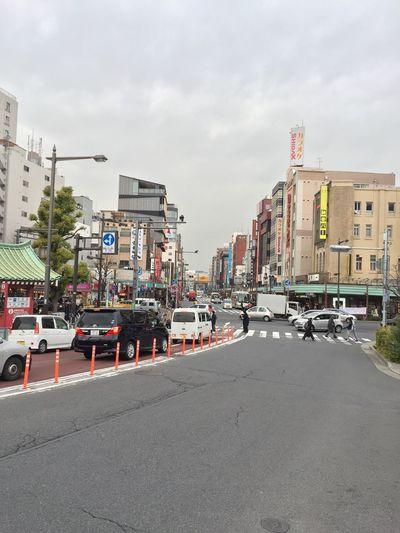 Car City City Street Crosswalk Day Intersection Japan Outdoors Public Transportation Road Sign Sky Transportation