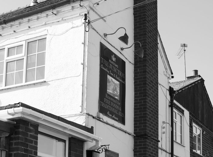 Architecture Architecture Architecture_bw Architecture_collection Black & White Black And White Blackandwhite Building Building Exterior Buildings Buildings & Sky Built Structure Low Angle View Monochrome Pub Sign Signage Signboard Signs Window