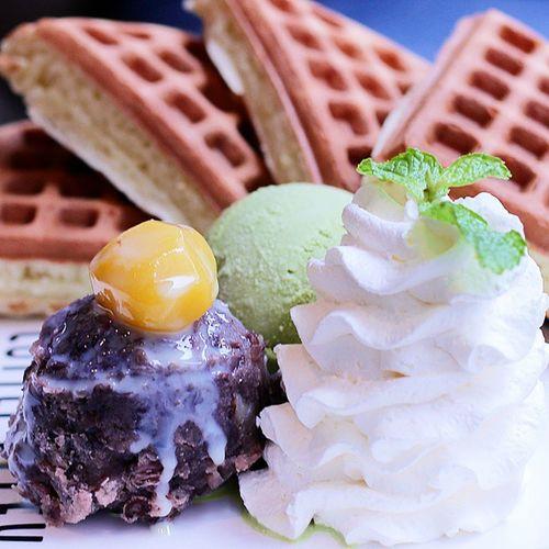 😐未什麼特別的咖啡弄窩夫 😐 窩夫 Waffles 普通 冇特別 咖啡弄 Foodphotography Food Taiwan Cafe