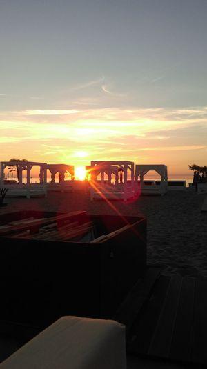 Sunset Strand Strandbar Warnemünde Ostsee 😎 Meer Holiday Sungoesdown🌅