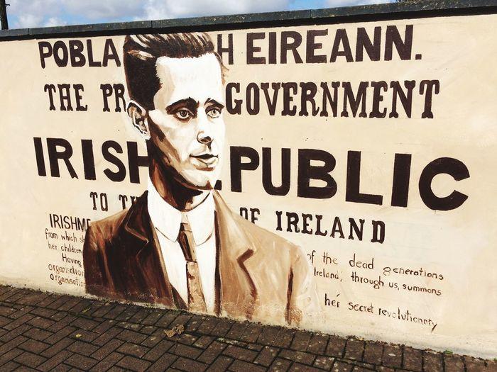 Sean Mac Diarmada mural in Manorhamilton Outdoors Mural art Day Art Rebellion Revolution Irish Culture Irish Independance Sean Mac Diarmada Male Likeness Wall Pride