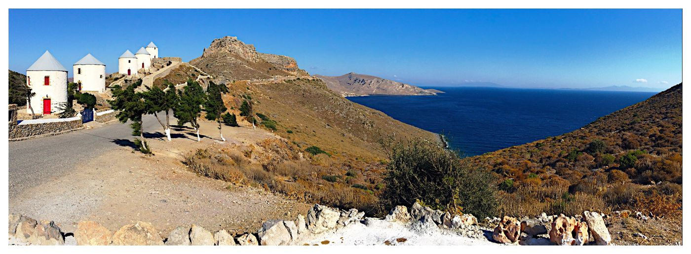 Landscape Leros Island Leros Greece Panoramic