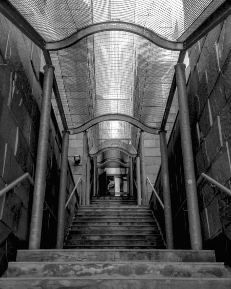 Indoors  The Way Forward Architecture Corridor Steps Built Structure Blackandwhite Black And White Stairs Stairs_collection Stairsporn Building Exterior Building Urban Urban Geometry Geometry Geometric Town University Black & White Bnw Down To Up Up Monochrome Monochrome Photography The Architect - 2017 EyeEm Awards