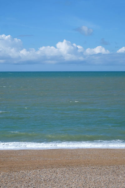 In Threes Seaford Beach Beauty In Nature Beauty In Nature Blue Cloud - Sky Day Horizon Horizon Over Water Idyllic Land Nature No People Outdoors Sand Scenics - Nature Sea Sky Thirds Tranquil Scene Tranquility Turquoise Colored Water Wave