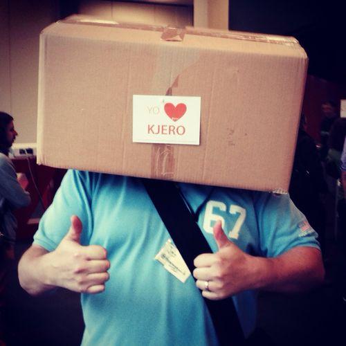 #Kjerobox... \o/ #bcbs14 ?